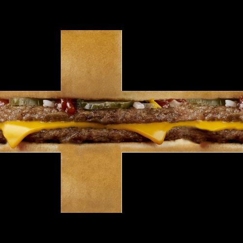 V-CUBE 3 Pillowed - Burger Print