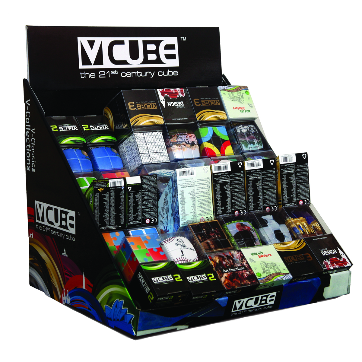 V Cube v cube large counter display stand v cube wholesale distributor
