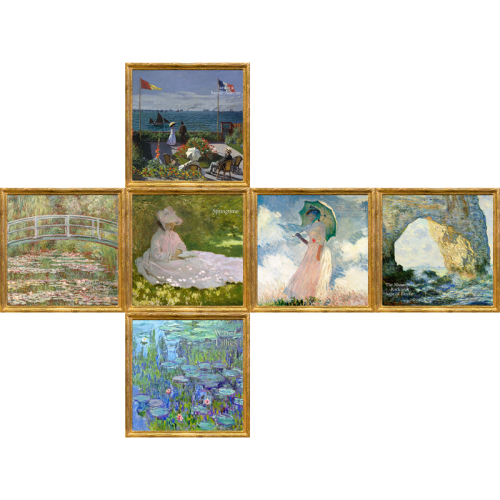 V-CUBE 3 Flat - Monet Print