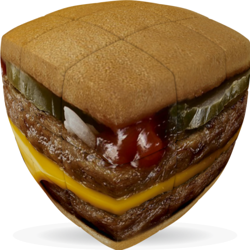 V-CUBE 3 Pillowed - Burger