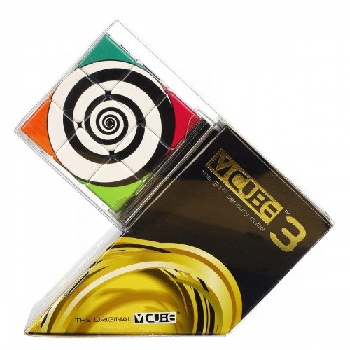 V-CUBE 3 Flat - Funky Spirals - In Packaging